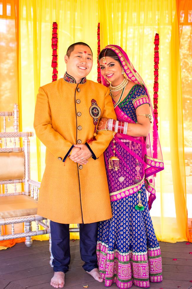 43a multicultural indian wedding bride and groom