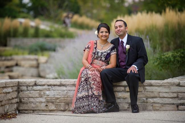 10 indian wedding outdoor bride and groom portrait