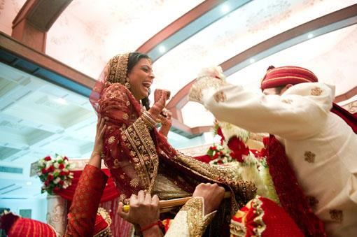 Red and Gold Traditional Indian Wedding