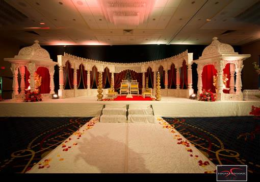 Red and White Indian Wedding by High Dynamic Photography