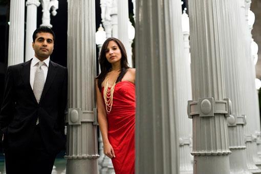 Romantic Los Angeles Indian Engagement Session