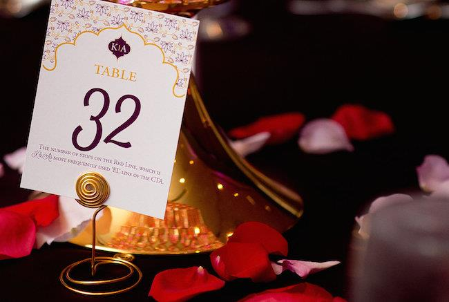 56a indian wedding table numbers