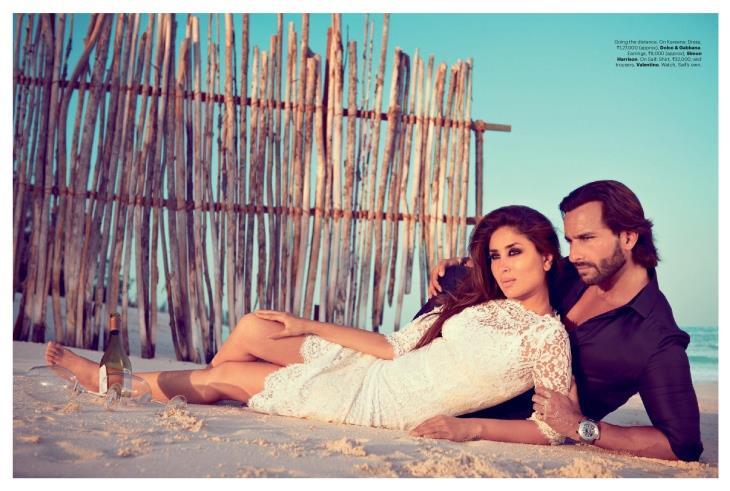 Saif Ali Khan and Kareena Kapoor Harpers Bazaar Shoot