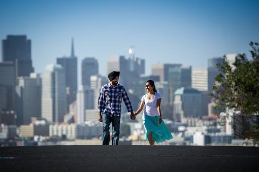 San Francisco Indian Engagement by Joseph Pascua Photography