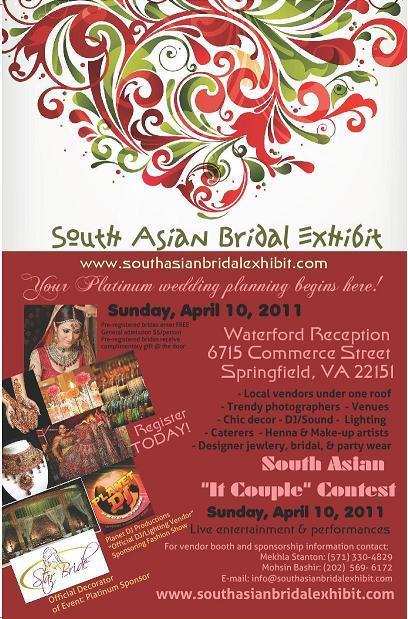 South Asian Bridal Exhibit - April 10 - Virginia