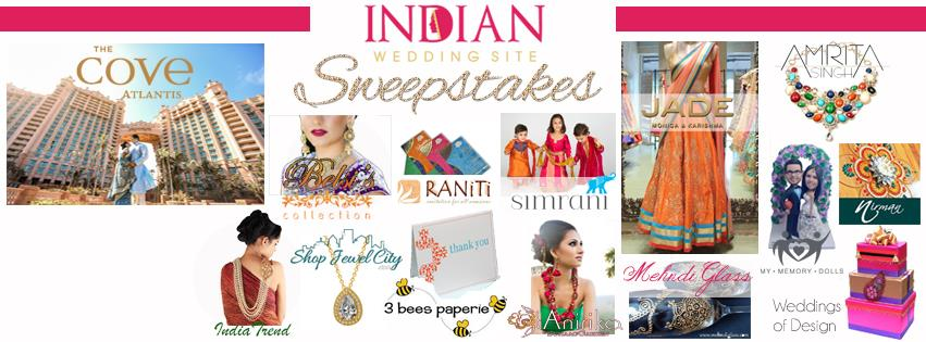 Indian Wedding Site Sweepstake Winners