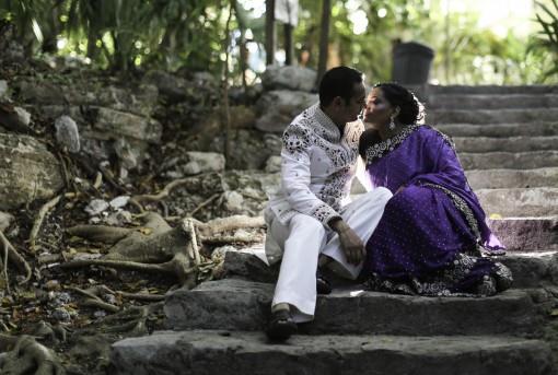 Trash the Sari Indian Wedding Photo Shoot in Mexico - 2