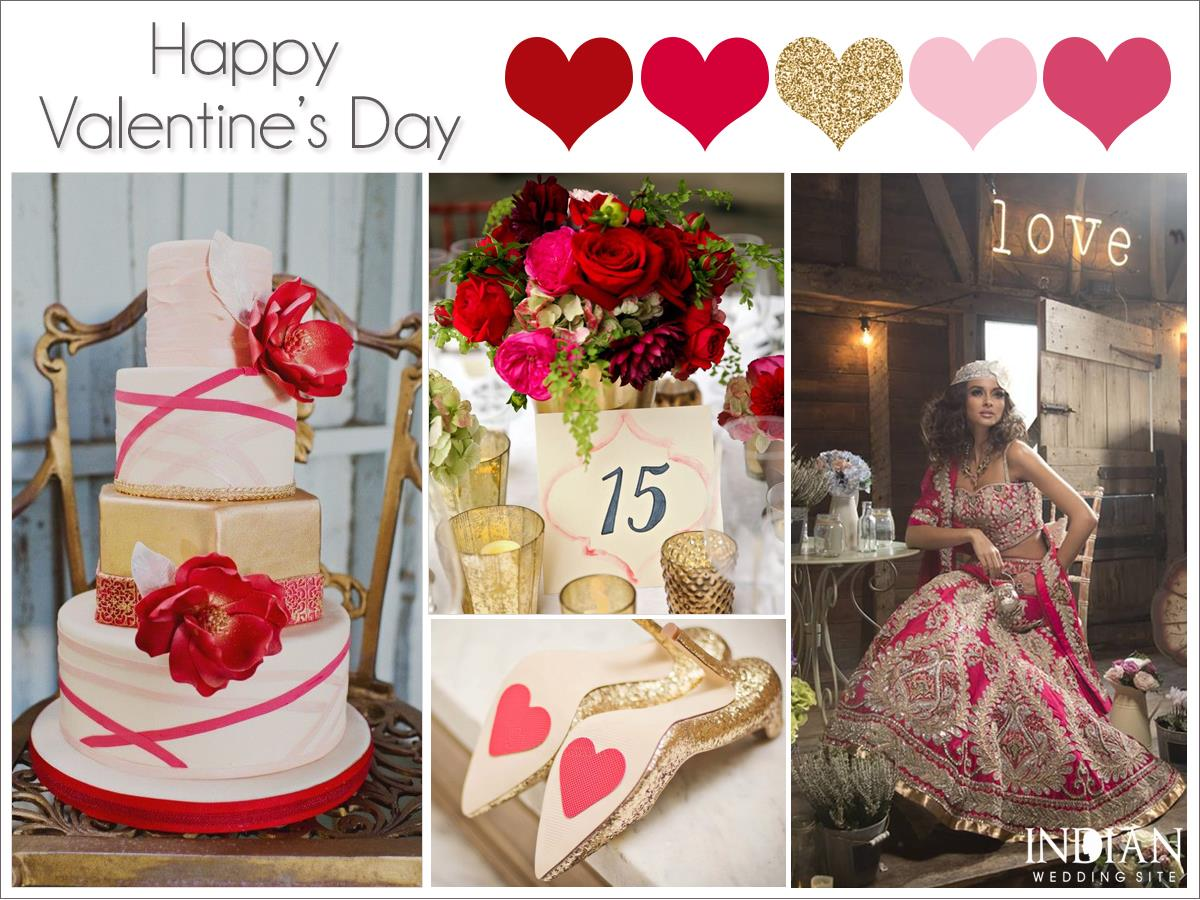 Valentines Day Indian Wedding Color Palette