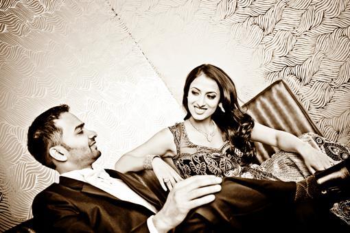 Vintage Black and White Indian Wedding Photos - 3