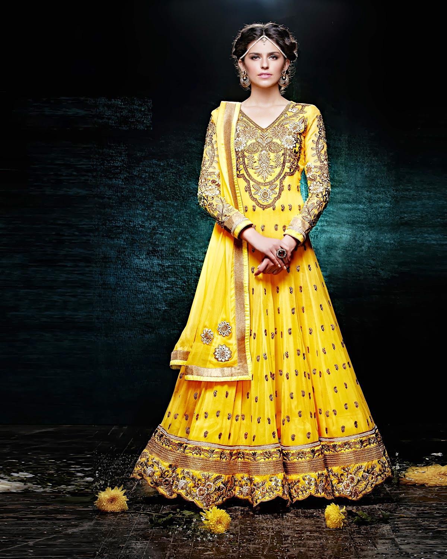 Lashkaraa Sunshine Yellow Floor Length Anarkali