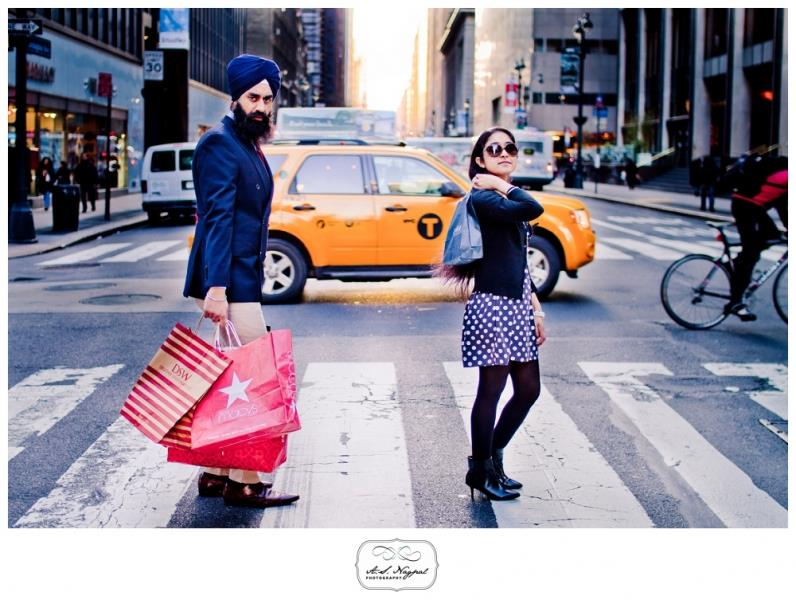 sikh-nyc-engagement-session-shopping-bags