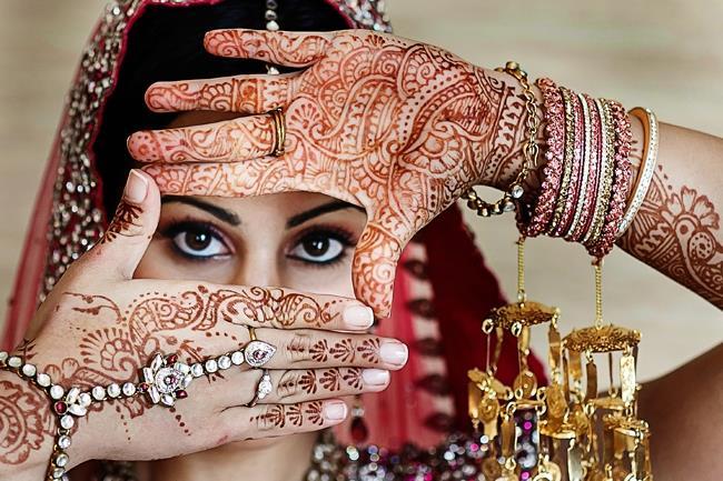 Indian Wedding Bridal Mehndi Portrait Jewelry