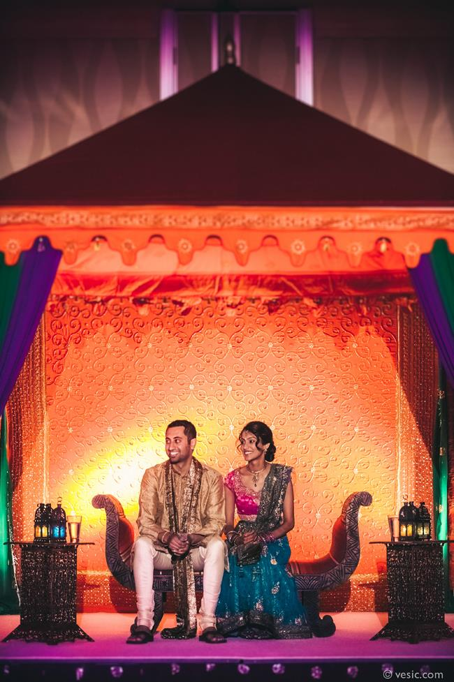 2a indian wedding sangeet mandap staging