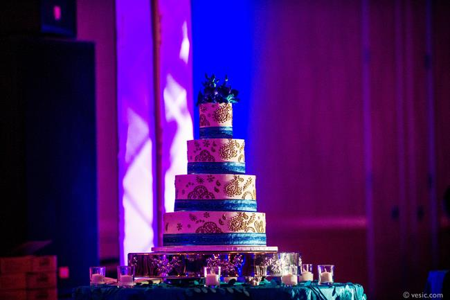 41a indian wedding blue mehndi design cake