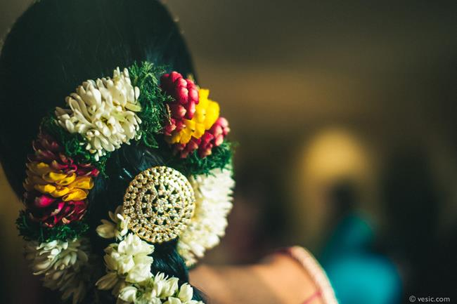 9a south indian wedding floral hair