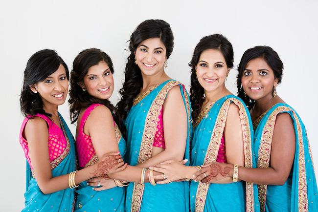 14a indian wedding bridesmaids
