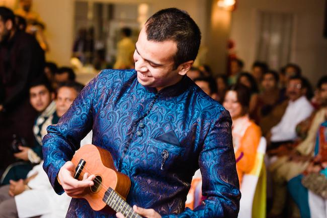 3a indian wedding groom ukulele