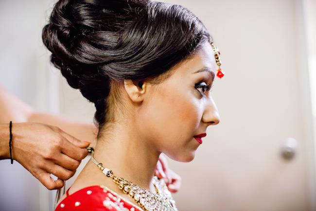8a indian wedding bridal jewelry and makeup