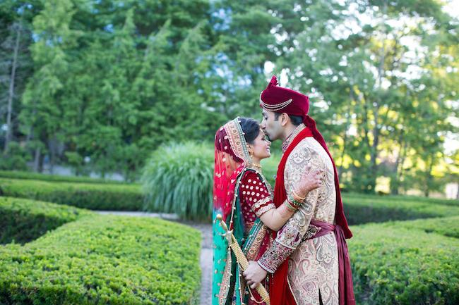 26a indian wedding bride and groom