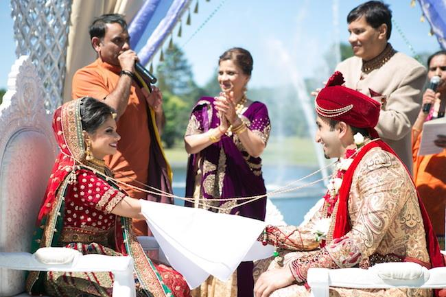 36a indian wedding bride and groom