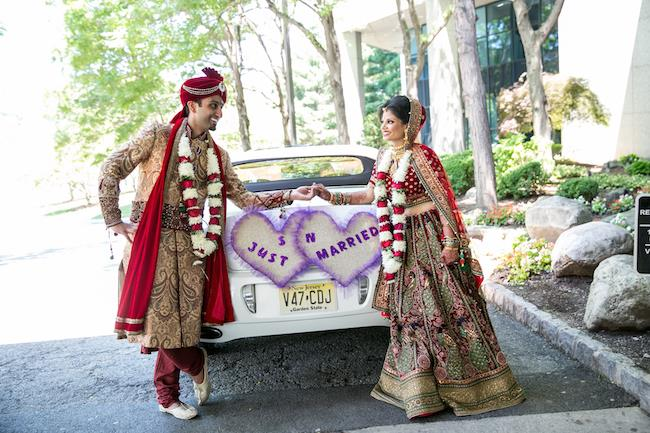 44a indian wedding just married