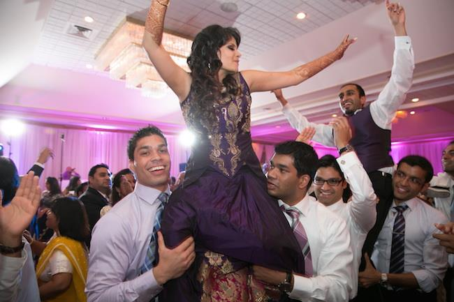 65a indian wedding reception dancing