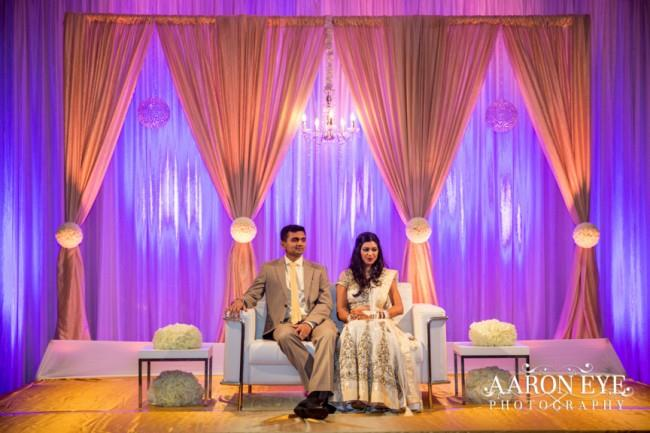 33 Indian wedding bride and groom stage